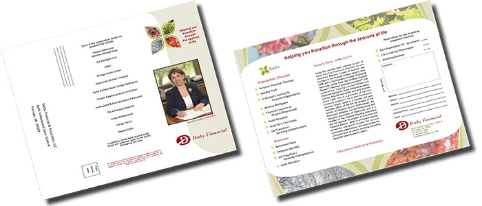 Derby Financial Speaking Engagement Brochure