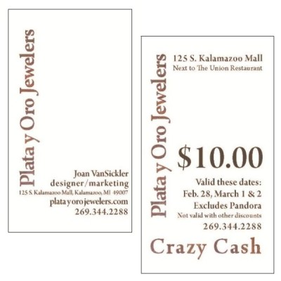 2010 Business Card and Crazy Cash Certificate